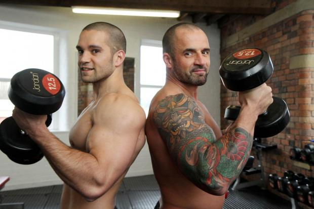 Joint gym owners Rousel Chowdhury (left) and Nick Hindle will be among those posing for the naked charity calendar