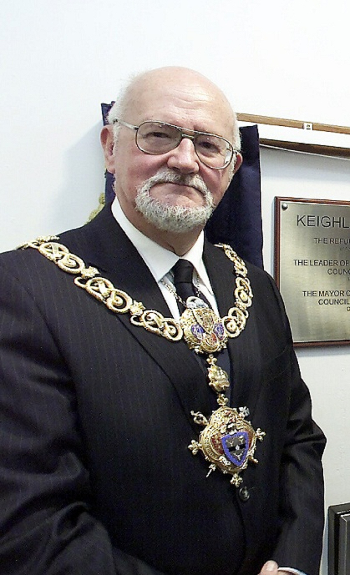 Councillor Graham Mitchell during his previous stint as Keighley Mayor