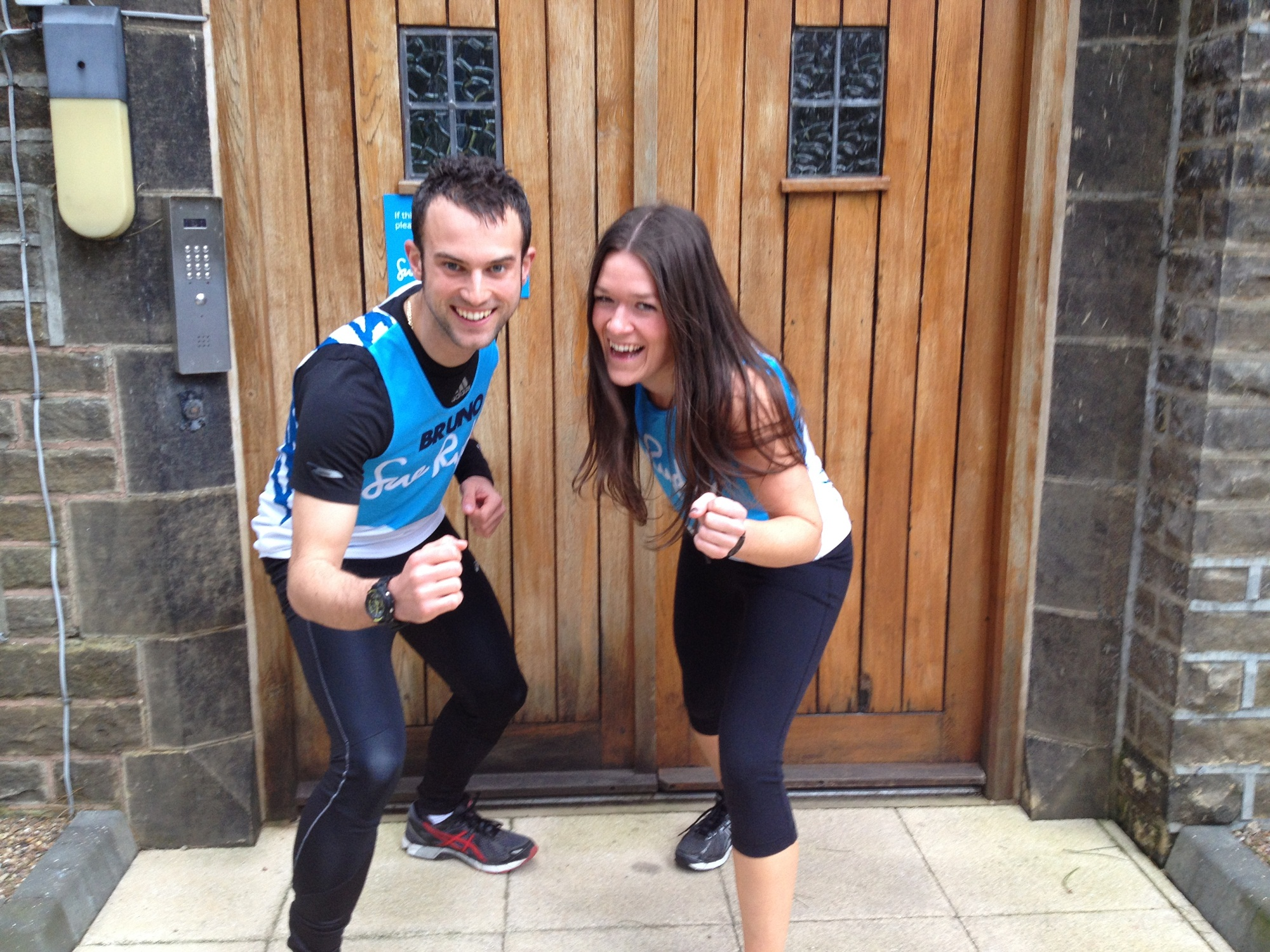 Adam Brunskill and Bethany Wise, who have taken part in running events to raise money for Manorlands