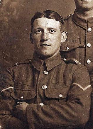 Hartley Falkingham, who survived four years on the frontline during the First World War
