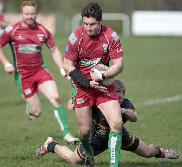 Keighley News: Danny McGee scored one of Keighley's two tries. Picture: Charlie Perry