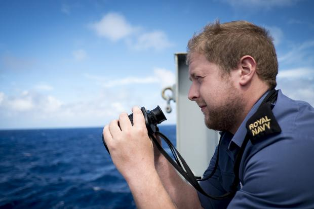 Able Seaman Ryan Smith is helping in the hunt for missing Malaysian Airways flight MH370