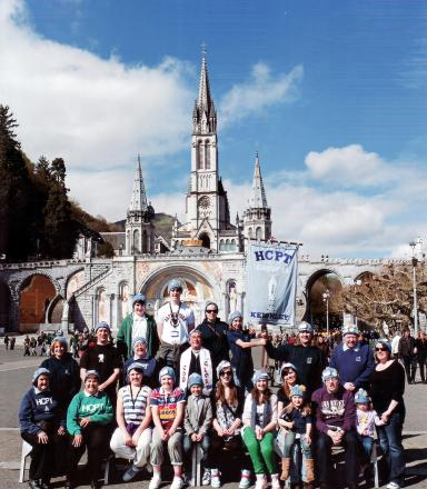 Group 58 on last year's pilgrimage to Lourdes