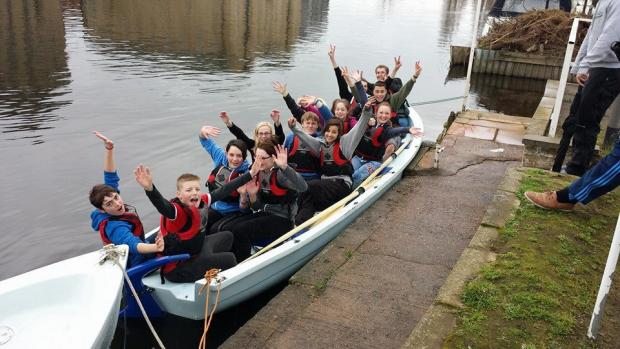 Keighley News: Keighley cadets test skills in a new boat