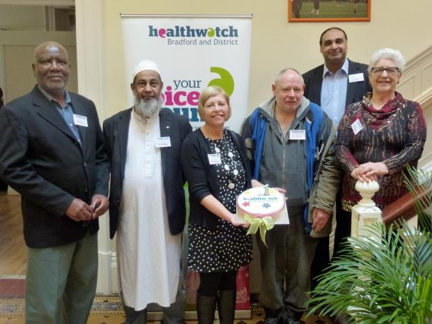 Keighley News: Members of the Healthwatch Bradford and District board, from left, John Samuel, Mashud Haque, Julie Bruce, Trevor Ramsay, Javed Khan and Pam James