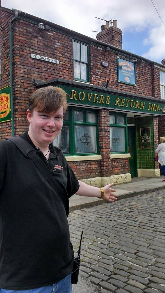 Coronation Street tour guide Andy Steele outsid