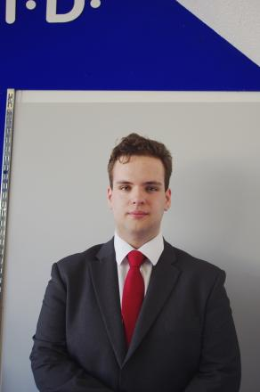 Luke Maunsell, 18, Labour's youngest candidate to stand for election in the district