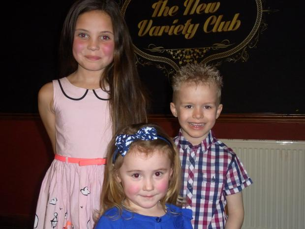 Keighley News: Keighley Gala retinue Natalia Villasanta, Kayla-Mae James and Macauley Holdsworth