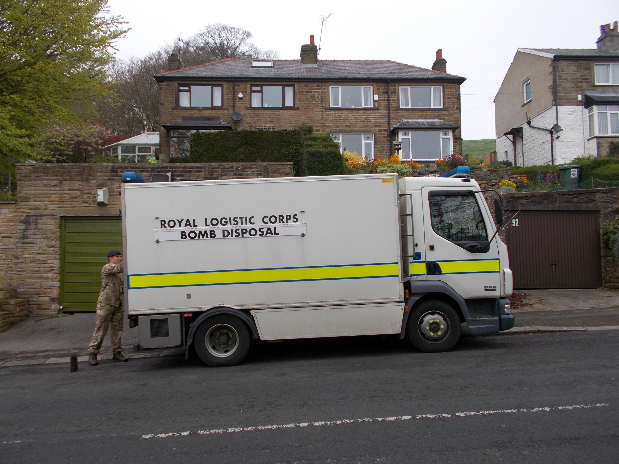 First photos from bomb scare in Braithwaite
