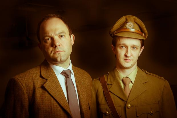 Not About Heroes features David Nicholson as Siegfried Sassoon, above left, and Matthew Gardner as First World War poet Wilfred Owen