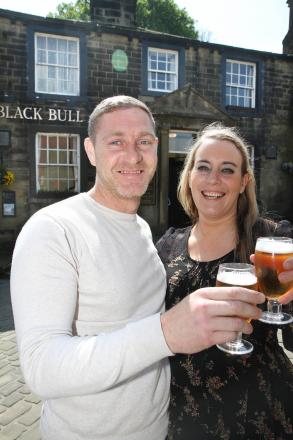 Michael Dewsnap and Leanne Forbes, who have taken over the running of the Black Bull in Haworth