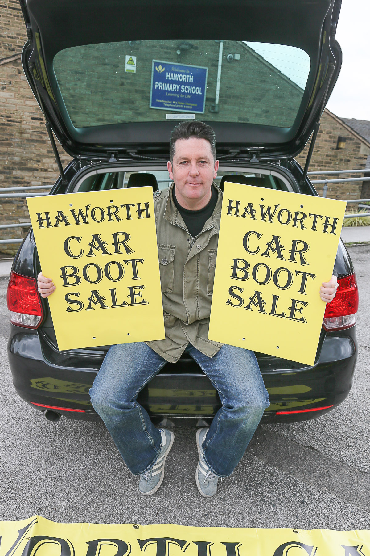 Bargains on offer at Haworth car boot sale