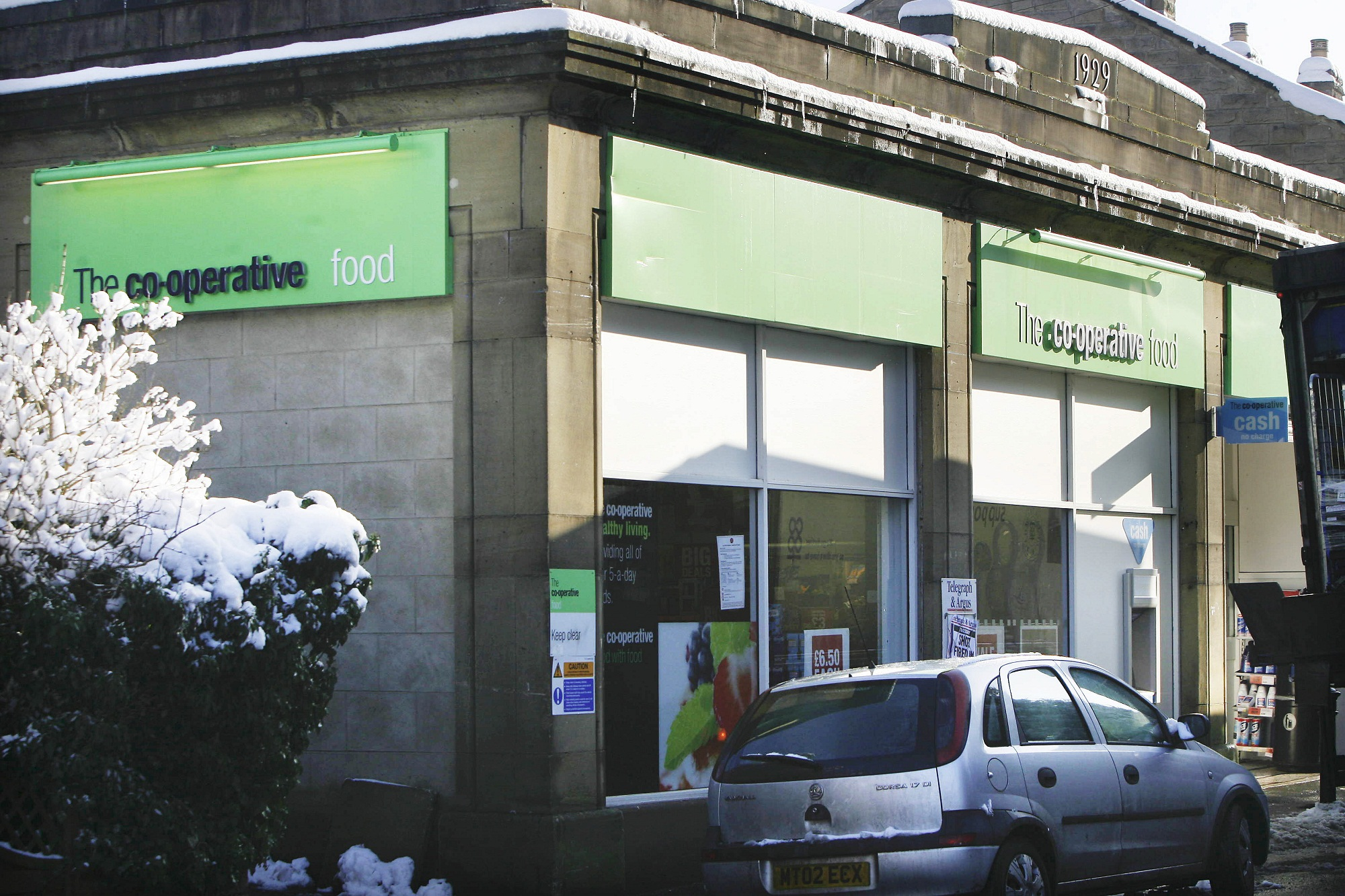 The Co-op store in Oxenhope, targeted by masked raiders