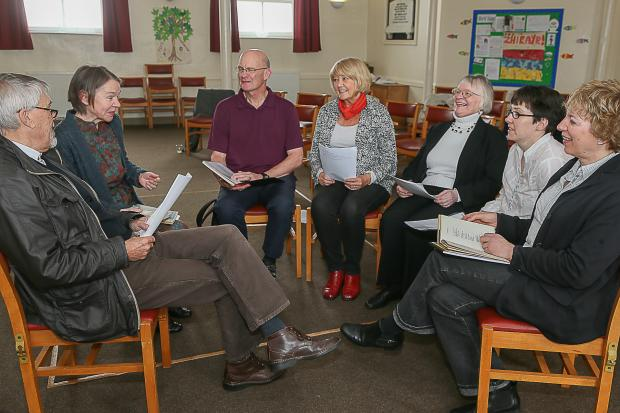Luke Spencer and Charmian Knight (left) lead the First World War discussion group at West Lane Baptist Church