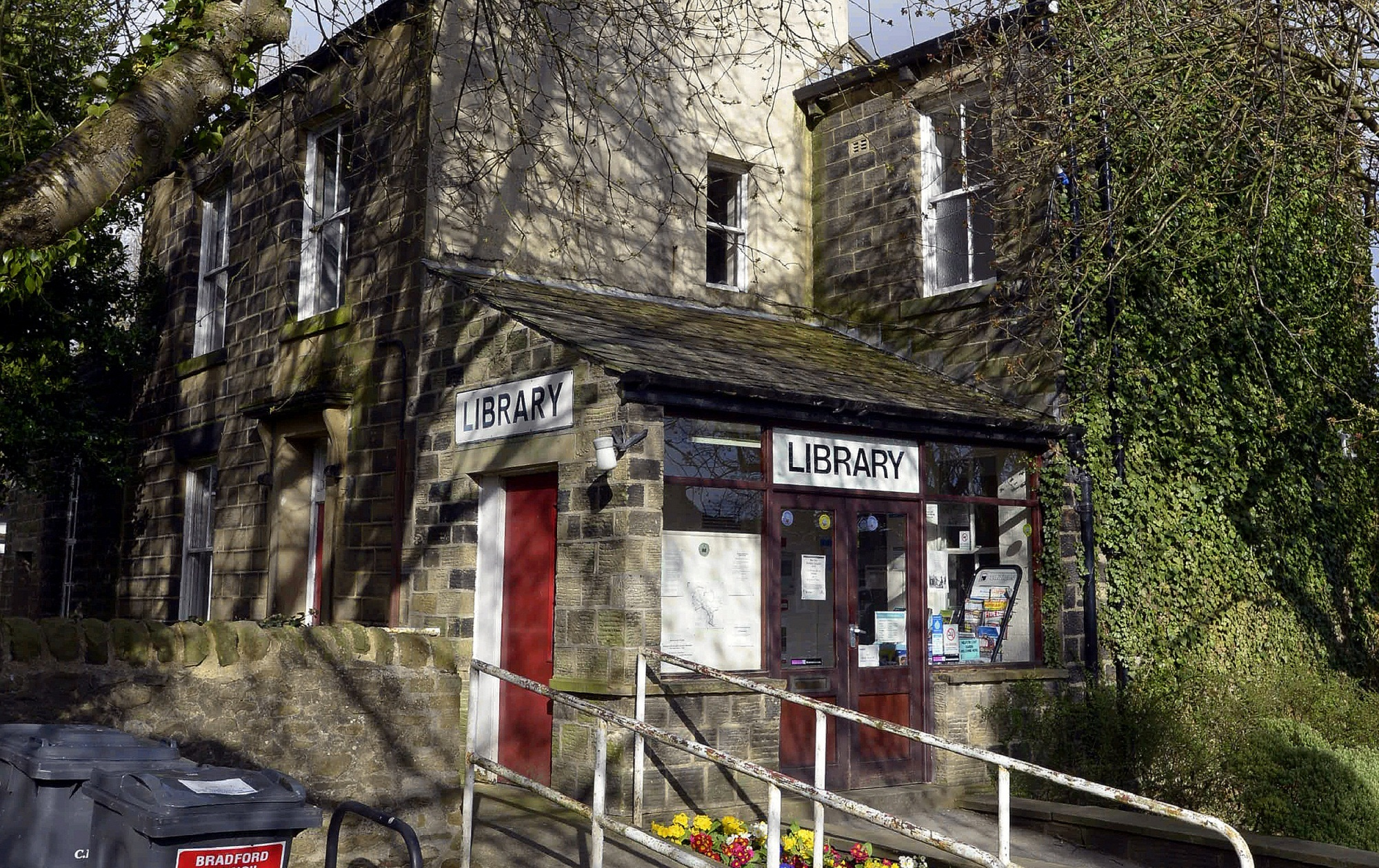 Silsden's former library, in Wesley Place, which had been earmarked for a police and community cont