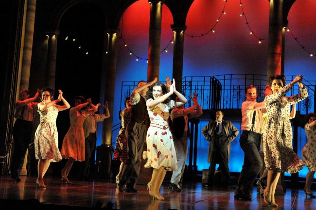 A scene from musical Evita, at the Grand Theatre in Leeds