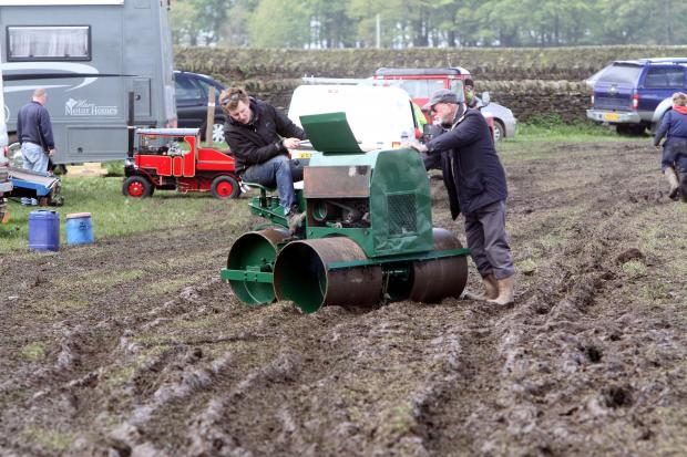 Keighley News: Negotiating the mud at the site