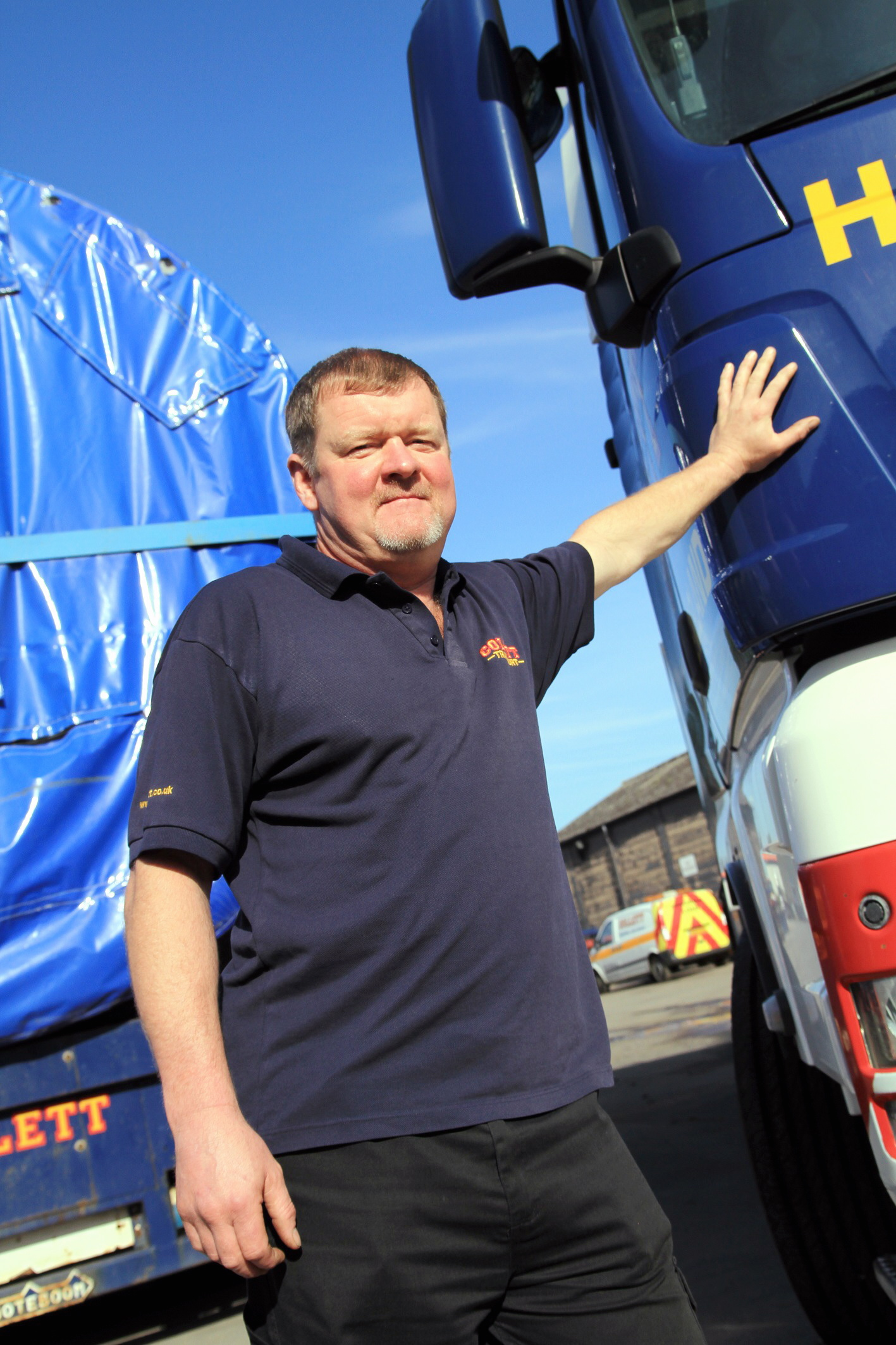 Steeton trucker is blaze hero