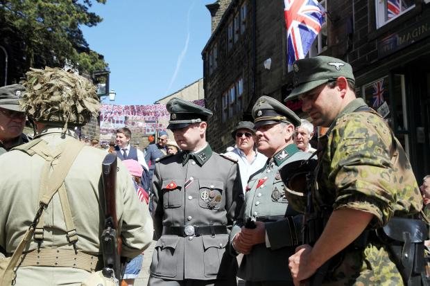 No trouble was reported despite German uniforms again being in evidence on Main Street for Haworth 1940s Weekend
