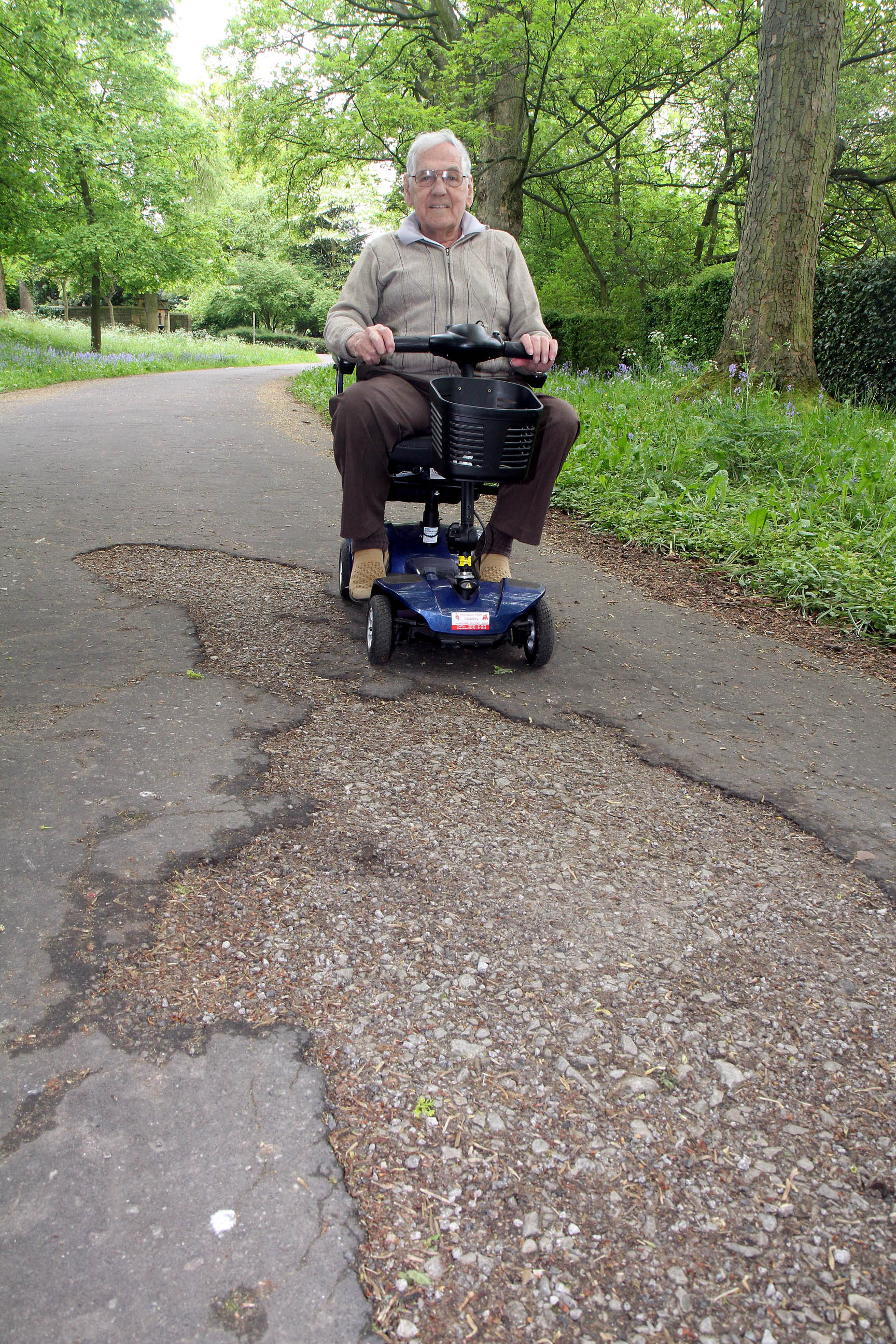 Harry Beevers says the 'shocking' state of footpaths in Cliffe Castle Park is preventing him and his wife visiting