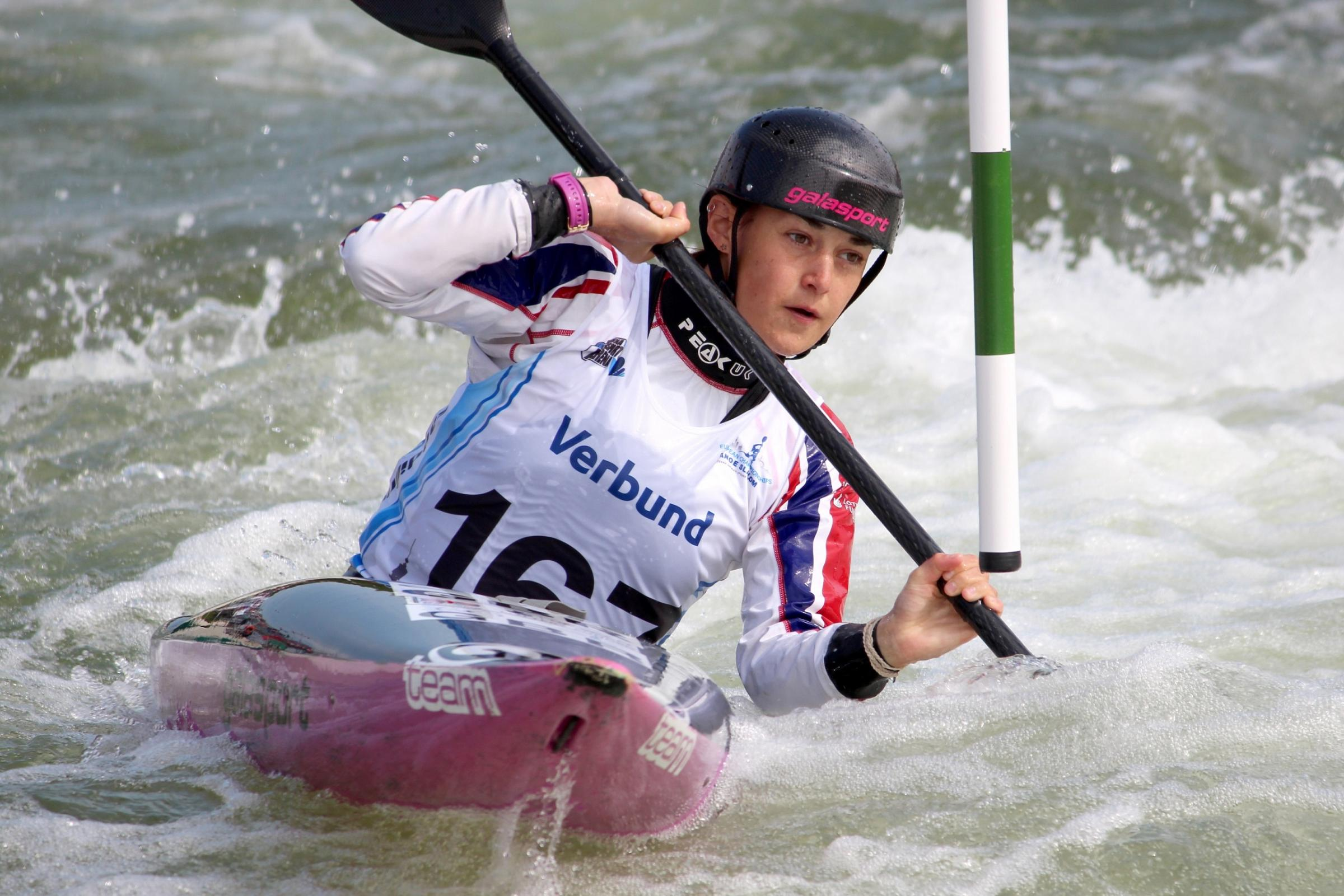 Beth Latham won gold in the women's K1 team e
