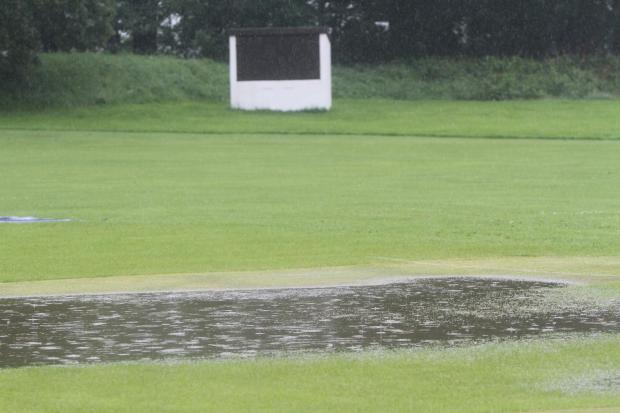 This was the scene at Sutton, who were supposed to be hosting Glusburn in a Craven League match. It was a similar scenario at grounds across the district
