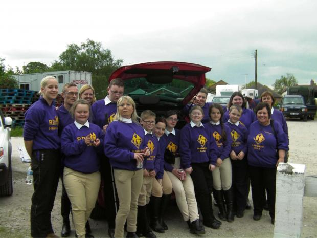 The Haworth RDA contingent at the Special Olympics in Derbyshire