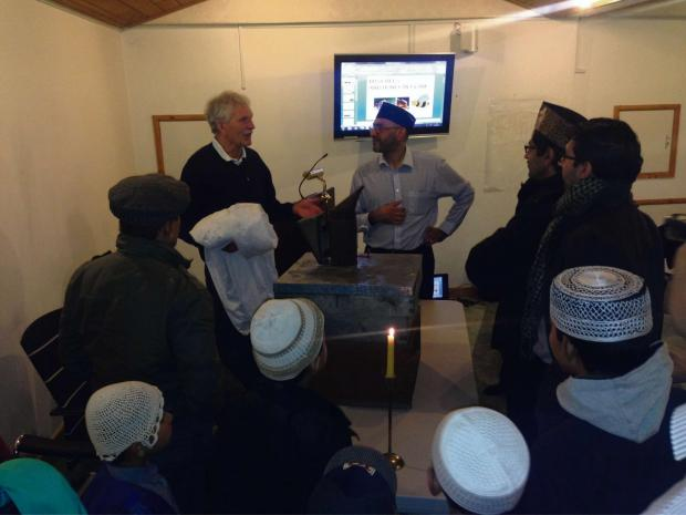 Keith Hebden, from Airedale Beekeeping Association, talks to Keighley Ahmadiy