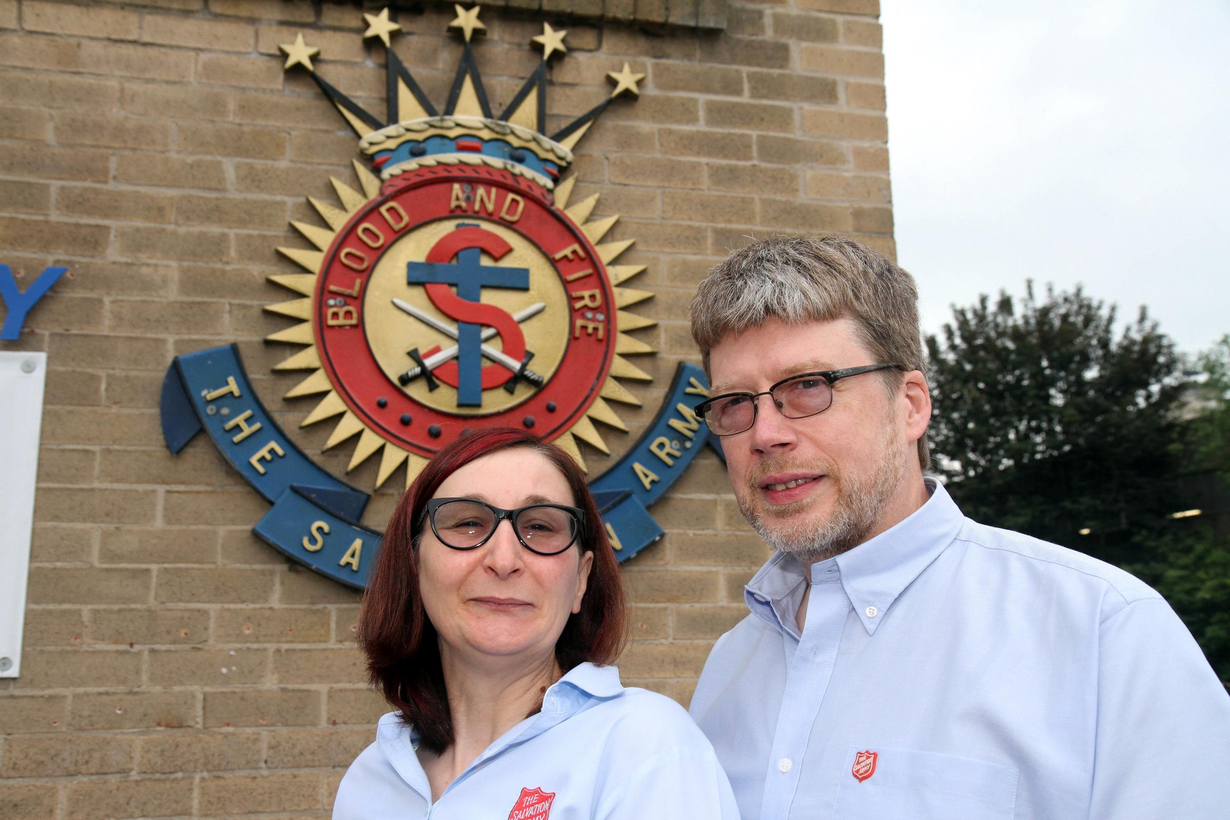 Keighley Salvation Army majors moving on