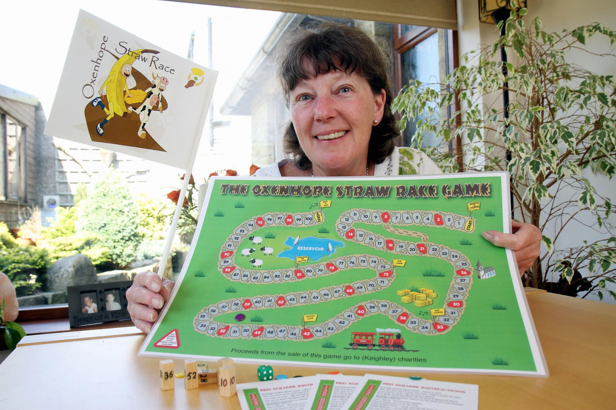 Games for good causes on sale at Oxenhope Straw Race and Manorlands Garden Party