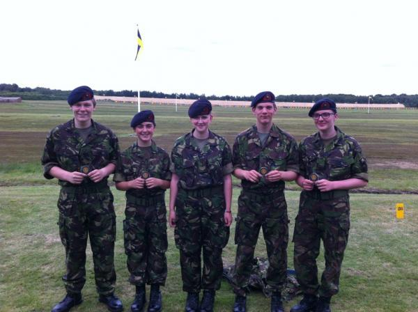 Keighley News: The successful team of Keighley sea and marine cadets