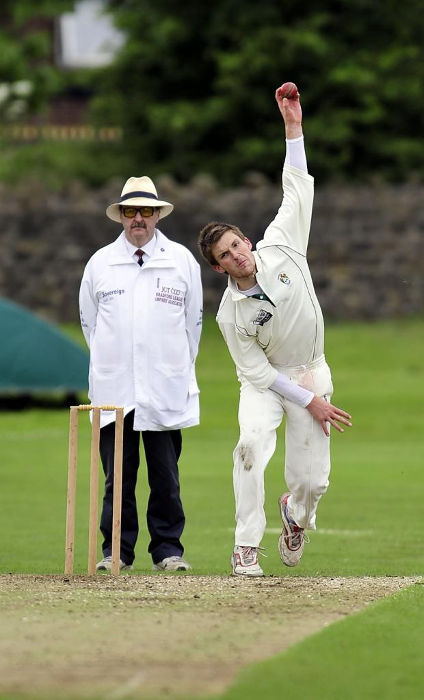 Keighley News: Alex Towler was Keighley's best bowler in the Priestley Shield defeat