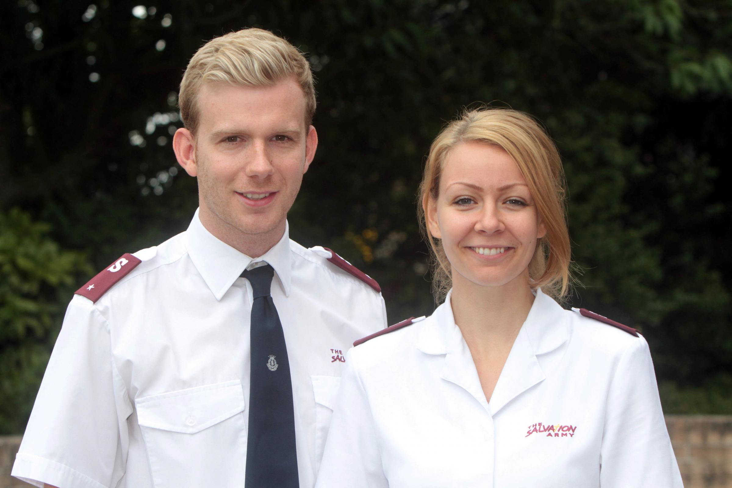 New lieutenants arrive for Keighley's Salvation Army branch