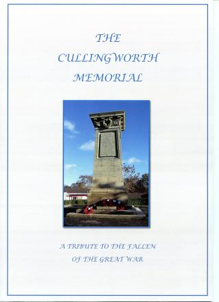 The book 'Cullingworth Memorial – A Tribute to the Fallen of the Great War'