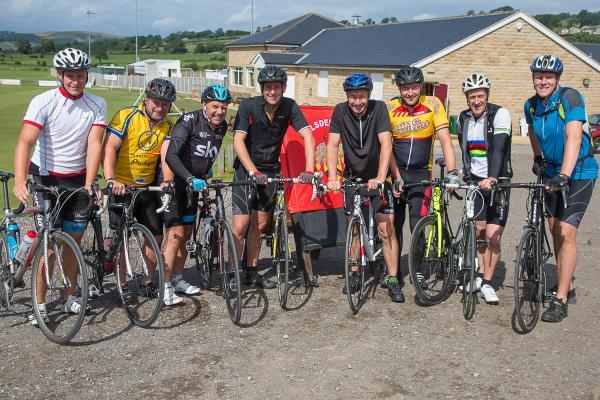 Morecambe to Silsden Cycle challenge - Tom Sessford, Paul Sessford, Dave Throup, Michael Rosser, Andy Geary, Daniel Locke, Mark Albone and Stephen Throup