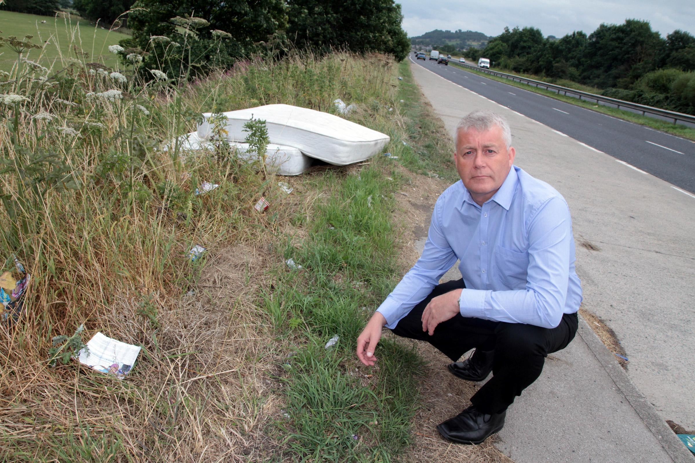 Flytippers condemned after rubbish is dumped in lay-by at Kildwick, near Keighley