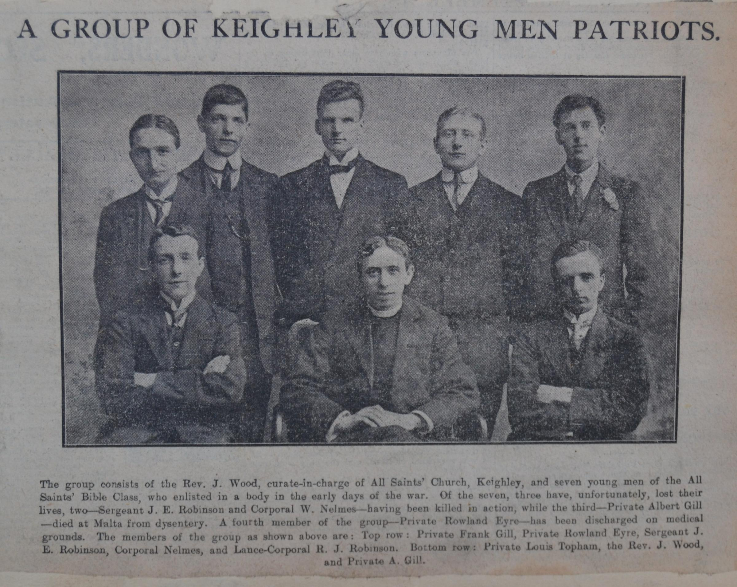 Bible group members from Keighley became Brothers in Arms together