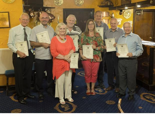 Keighley and District Photographic Association certificate winners, from left, John Raven, Malcolm and Janet Whitelock, Iain Sutherland, Linda Harrison, Tony Pickering,Malcolm White and Stewart Cardwell. Elaine Sutherland is not pictured.