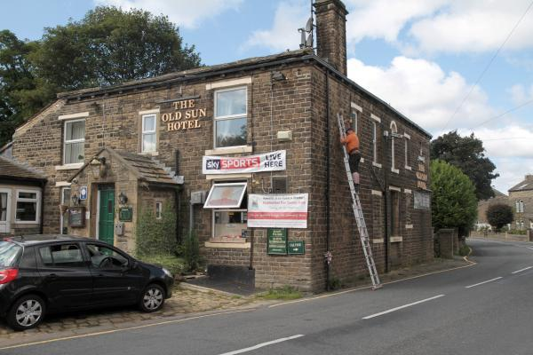 The Old Sun Pub, in West Lane, Haworth