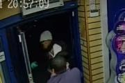 CCTV footage showing the attacker escaping after one of the attempted robberies