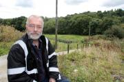 Alex Brown at the community allotments off North Dean Road, where the challenge day will take place (9526891)
