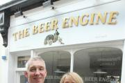 Steve Banks and Janet Langton outside the Bee