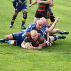 Keighley News: NEAR MISS: Jay Bingham goes close to a try against Victoria Picture: Nigel Chew