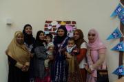 Some of the Eastwood Primary School mothers who have received certificates for improving their proficiency in English