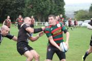 TRY-SCORER: Craig Nicholson, right, was in the points for Cowling in their big win