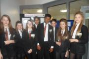 The Student Guides who were on duty at Parkside School's open evening