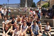 Parkside School students during their visit to Rome
