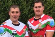 Paul March and Brendon Rawlins model Keighley's new kits
