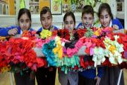 Eastwood Primary School children, from left, Bushra Shazad, Mohammad Rehman, Honufa Ferdousi, Shakeal Hussain and Humayra Ghafoor