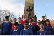 Pupils from Keighley school who took part in the Remembrance Sunday parade
